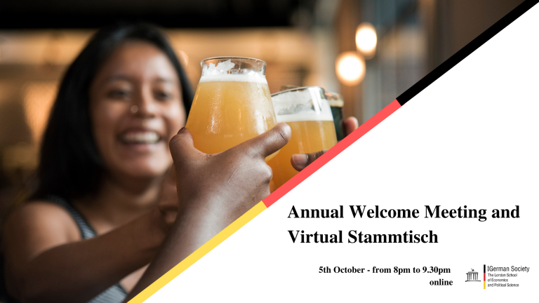 Annual Welcome Meeting and Virtual Stammtisch